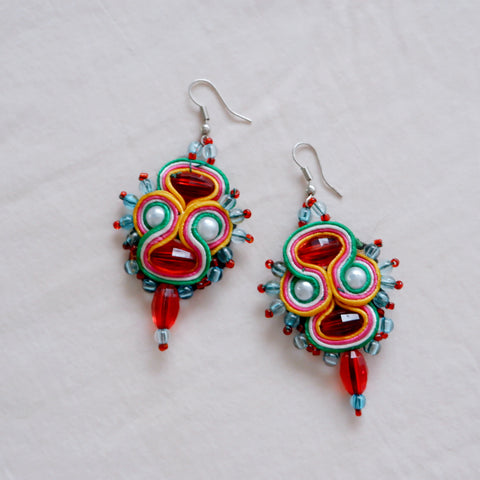 Vintage Beaded Earrings