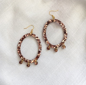 Poppy Earrings - Copper