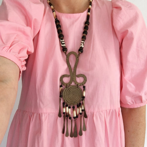 Vintage Aztec Statement Necklace