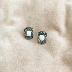 White Antique Style Studs