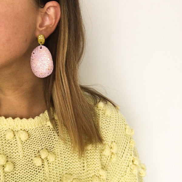 Lilac & Pale Green Earrings by Emily Green