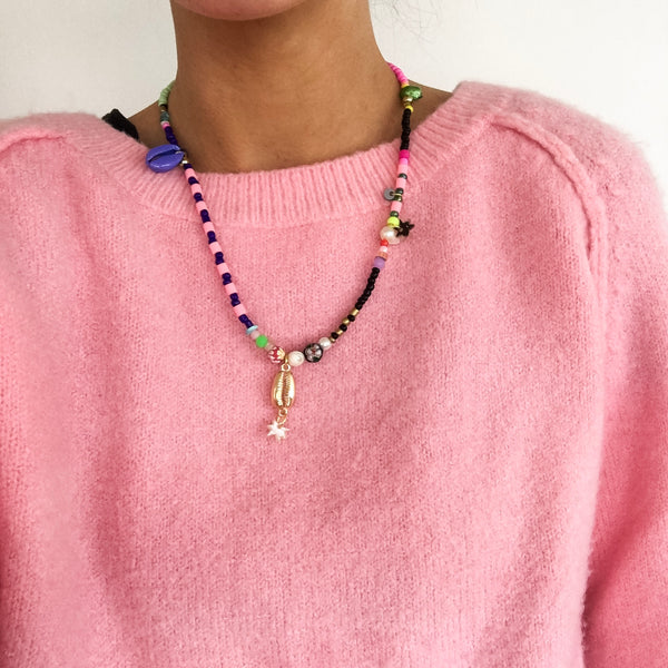 Pink, Blue & Teal Necklace