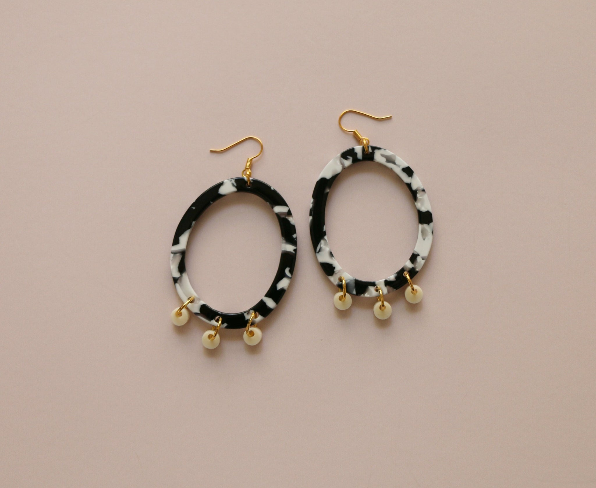 Poppy Earrings - Monochrome