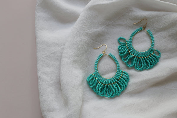 Ditsy Earrings - Turquoise