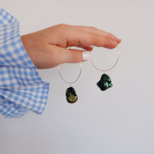 Calli Hoops - Green Pearl