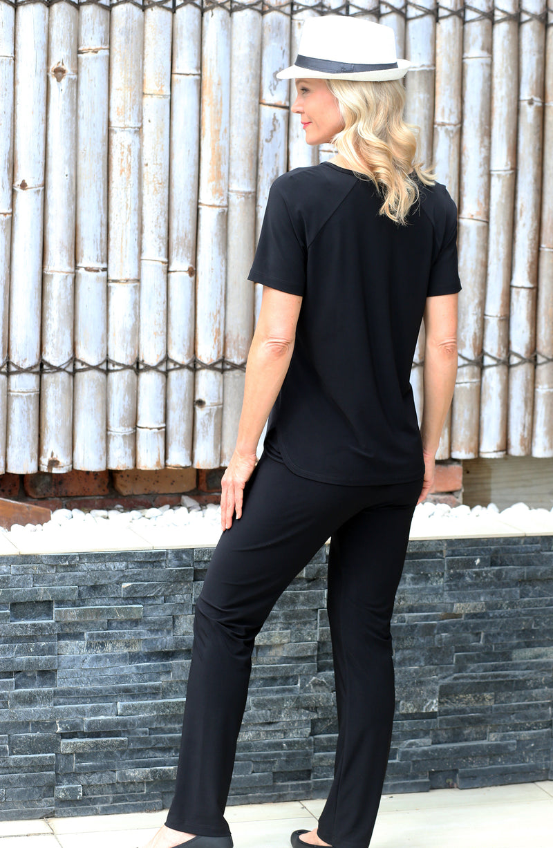4236E Sorento Short Sleeve Raglan - Black