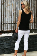 4648 Manhattan 7/8 Jean Pant - New White