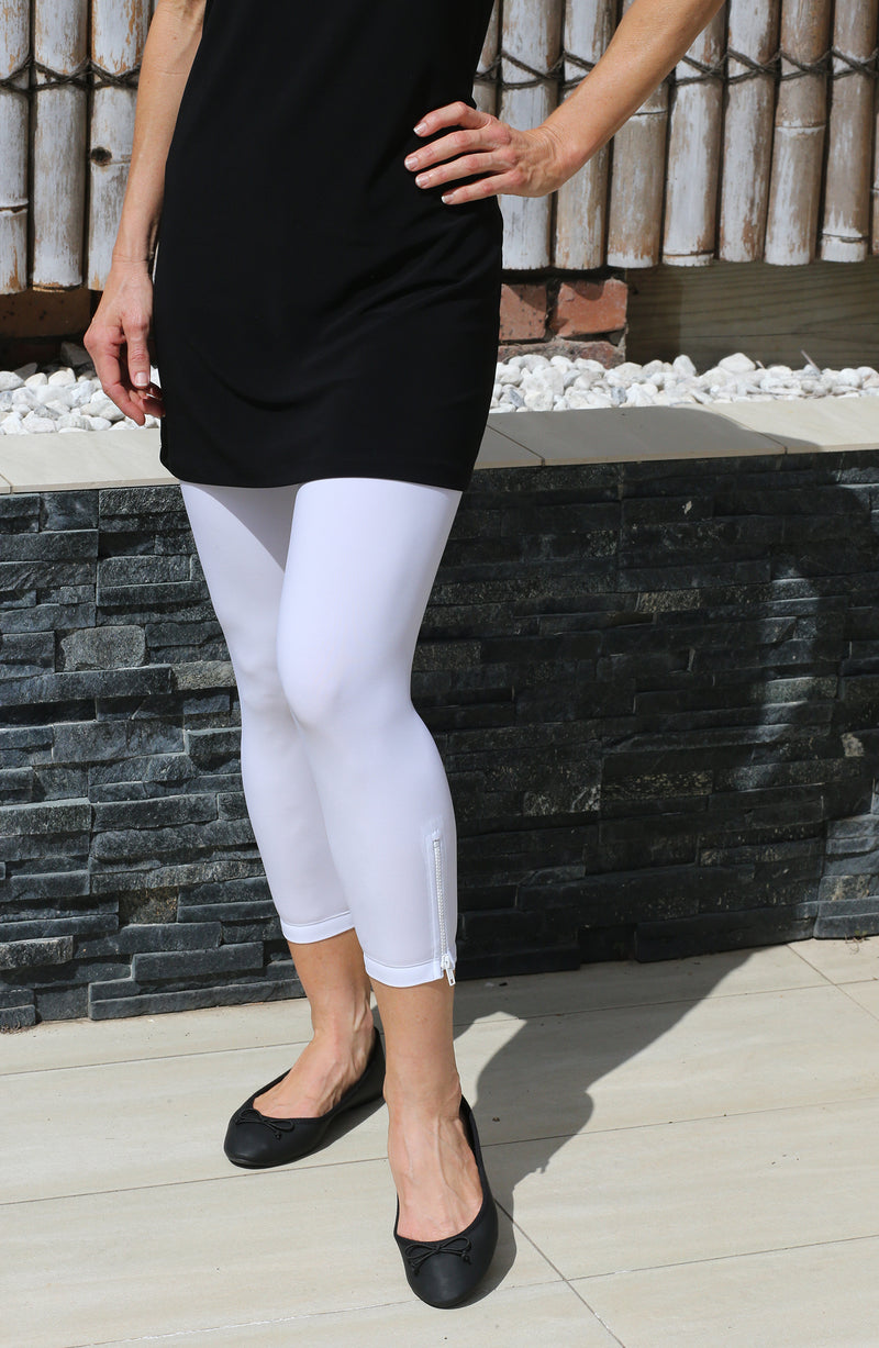 4318E Zip Tights - White