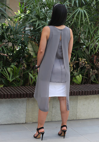 5101 Layered Top - Slate/Silver