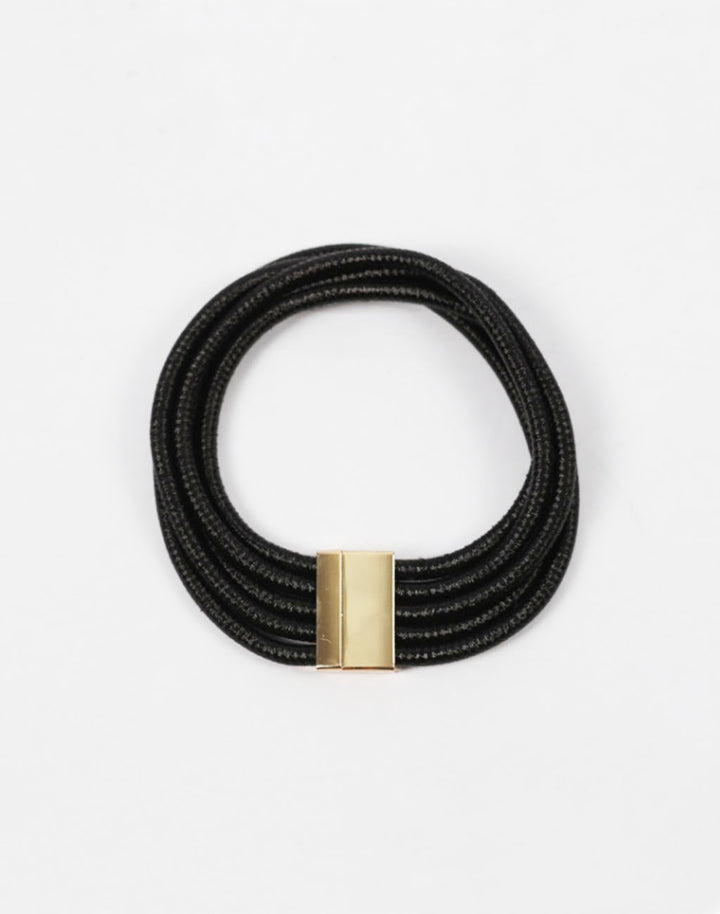 A65 Clasp Collar Necklace- Black