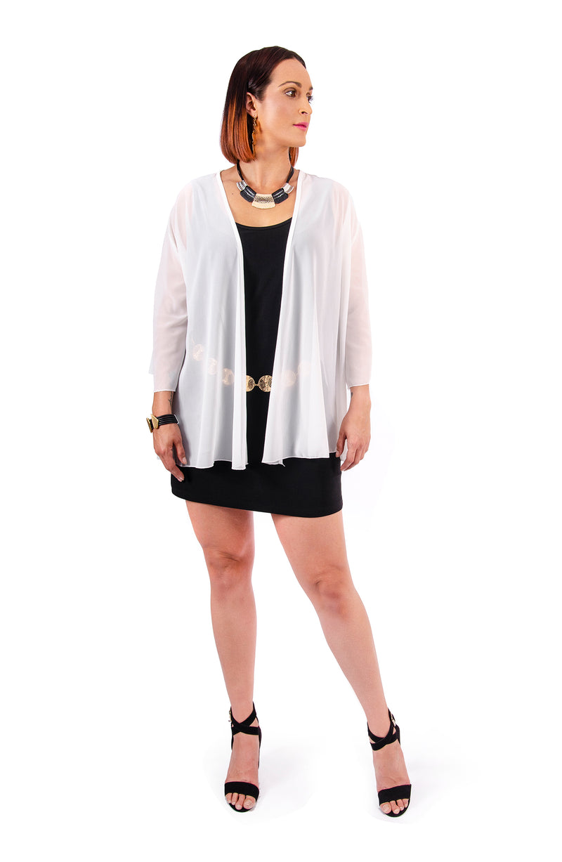 A301 Loose Cape - White