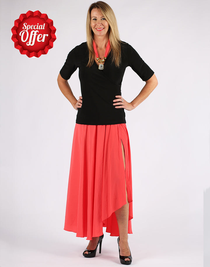 IT0020 Crossover Skirt - Coral