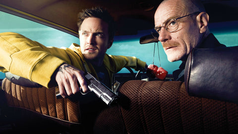 Breaking Bad Jesse & Walter in Car