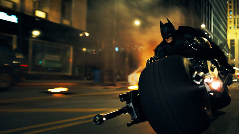 Batman : The Dark Knight on Bat Mobile
