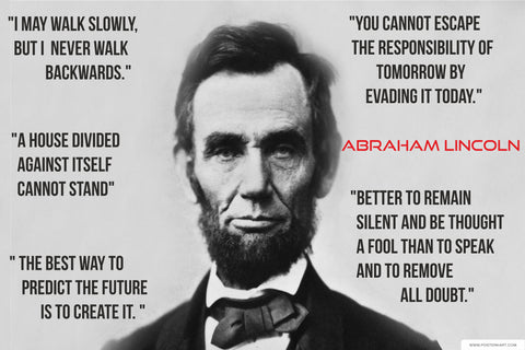 Abraham Lincoln Quote Poster India
