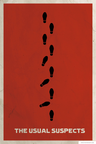The Usual Suspects Minimalist Movie Poster