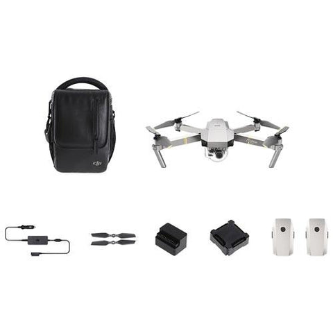 DJI Mavic Pro Platinum Quadcopter Drone - Fly More Bundle - Makerwiz
