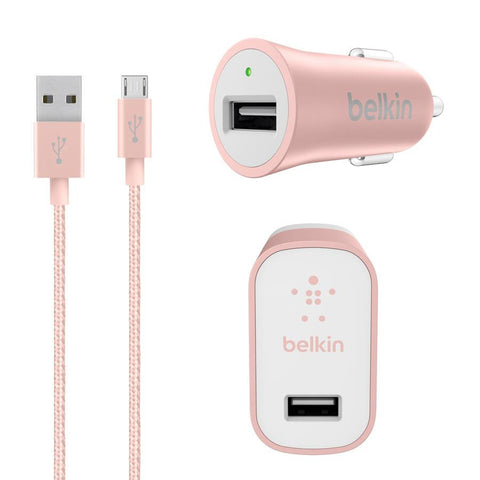Belkin Charger Kit with Micro USB Cable Rose Gold - Makerwiz