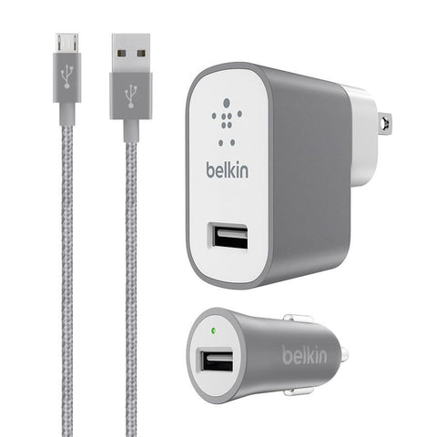 Belkin Charger Kit with Micro USB Grey - Makerwiz