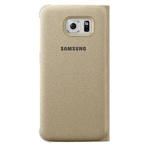SAMSUNG GALAXY S6 S VIEW COVER (FABRIC) - GOLD