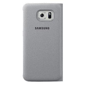 SAMSUNG GALAXY S6 S VIEW COVER (FABRIC) - SILVER