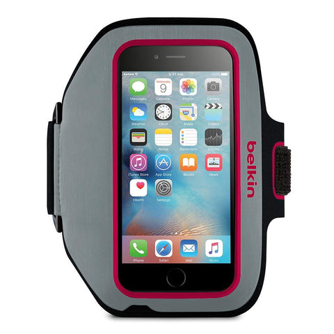 Belkin Sport Fit Plus for iPhone 6 – Gray / Pink - Makerwiz