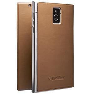 BlackBerry Passport Leather Flip Case, Tan
