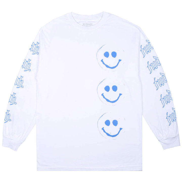 SMILEY FACE LONGSLEEVE T-SHIRT WHITE
