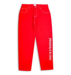 JUDAH.TRIBE STRAIGHT CUT PANTS RED