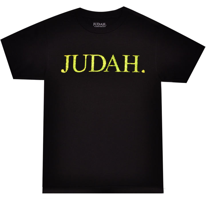 JUDAH. SNAKE SKIN LOGO SHORT SLEEVE T-SHIRT BLACK