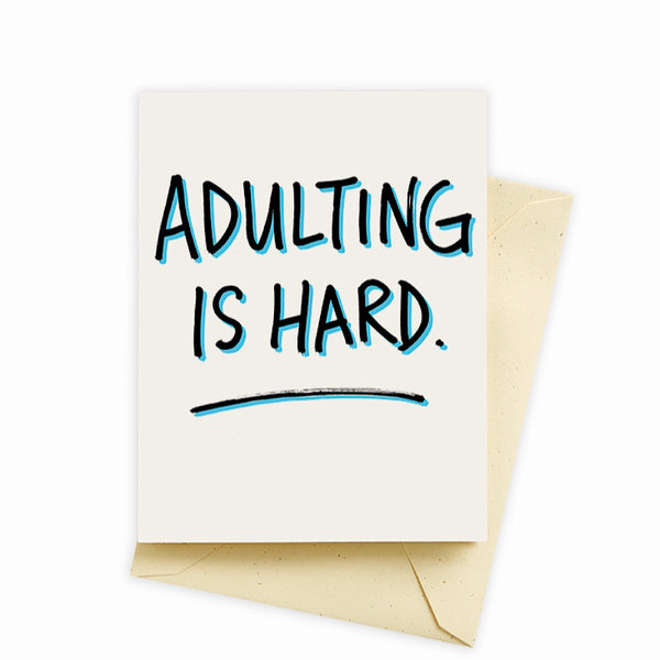 Seltzer Goods® Card - Adulting is Hard Birthday