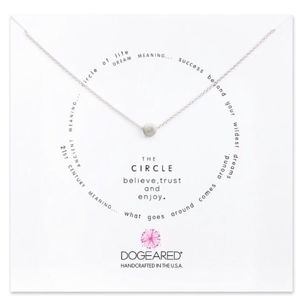 Dogeared® Sterling Silver The Circle Bead Necklace
