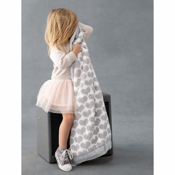Little Giraffe® Luxe™ Heart Army Receiving Blanket