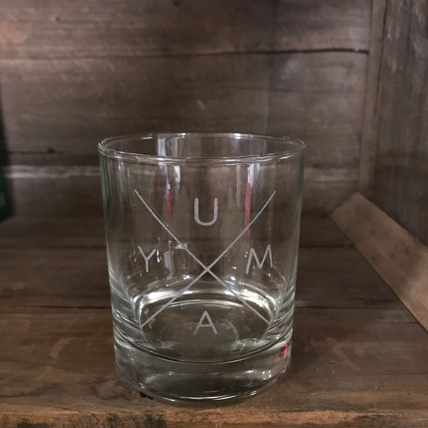 Yuma Roots® Y U M A  X Whiskey Glass