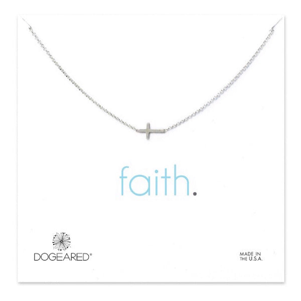 Dogeared® Sterling Silver Faith Small Cross Necklace