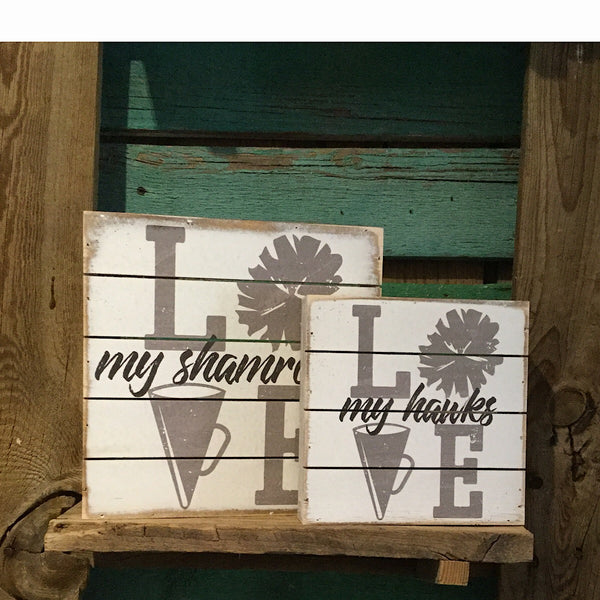 Sincere Surroundings® Wooden Pallet Sign- LOVE Cheer