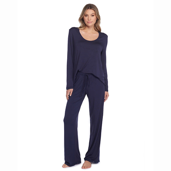 Barefoot Dreams® Luxe Milk Jersey Classic Pant and U-Neck Tee Set