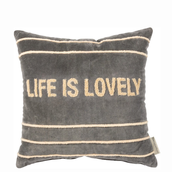 "Primitives by Kathy® Decorative Velvet Pillow ""Life is Lovely"""