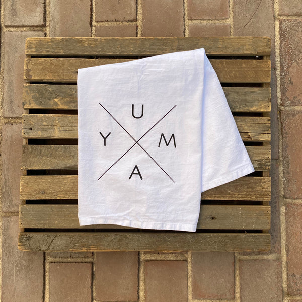 "Yuma Roots™ Dish Towel ""Yuma X"""