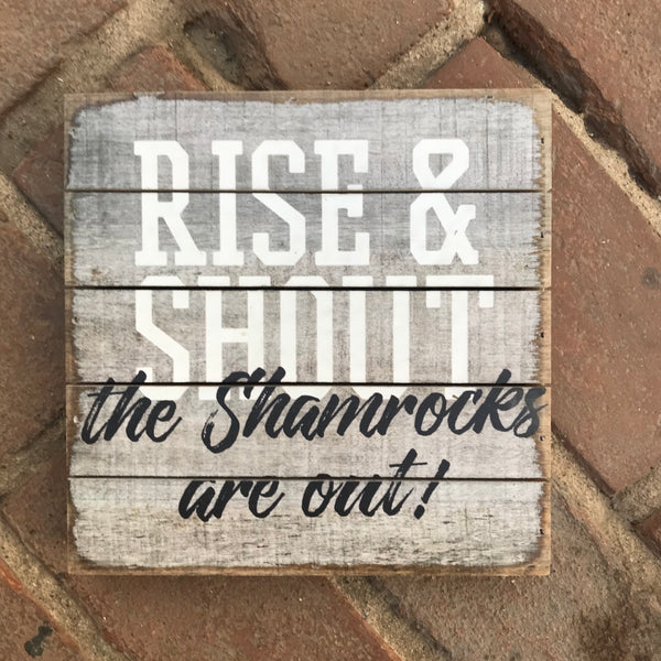 Sincere Surroundings® Wooden Pallet Sign- Rise & Shout
