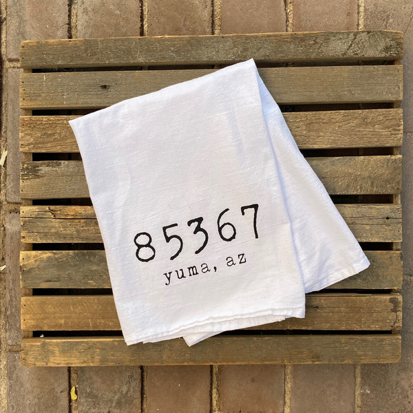 "Yuma Roots™ Dish Towel ""Yuma, AZ 85367"""