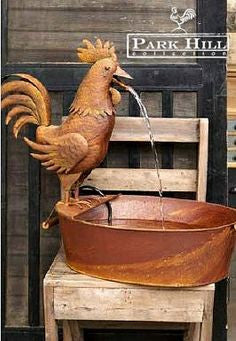 Park Hill® Rooster Fountain