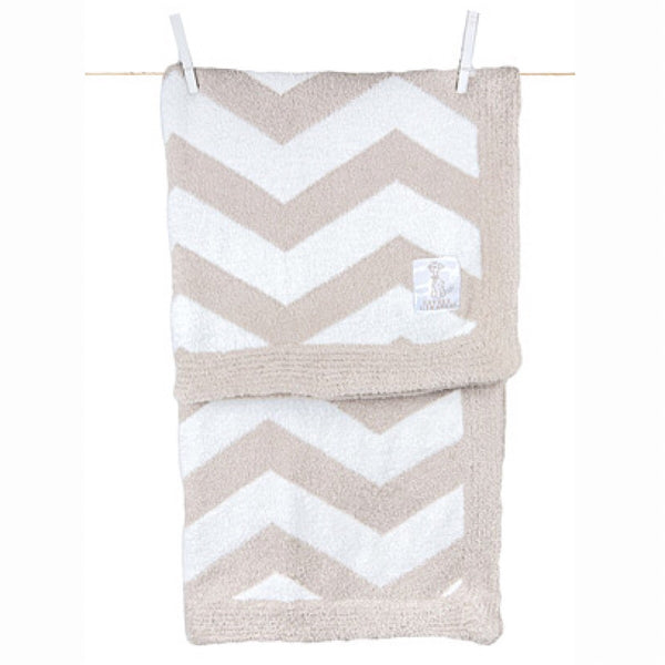 Little Giraffe® Feather Yarn Dolce™ Chevron Receiving Blanket