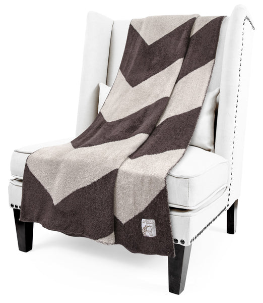 Giraffe at Home® Feather Yarn Dolce™ Chevron Throw