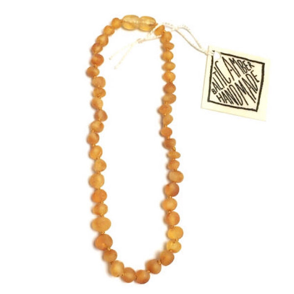 Canyon Leaf™ Baltic Amber Teething Necklace Raw Honey