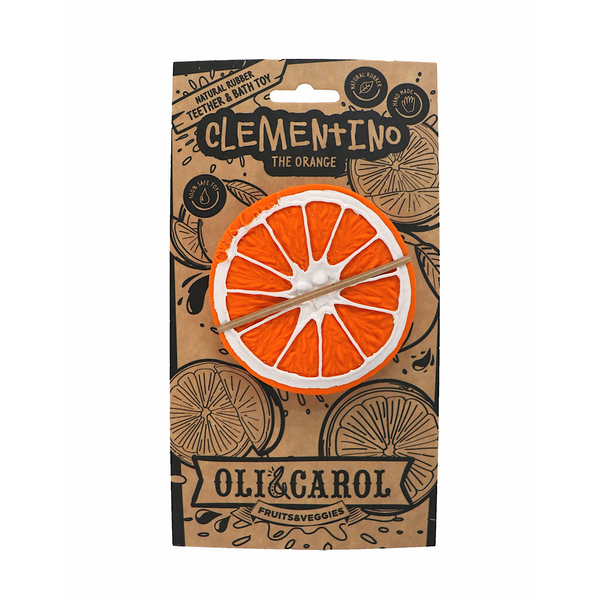 Oli & Carol® Teething and Bath Toy-  Clementino the Orange
