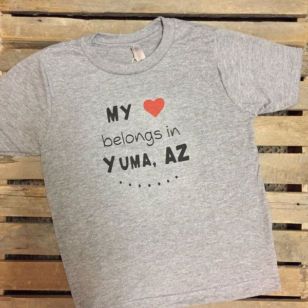 Yuma Roots™ My Heart Belongs in Yuma Youth Tee