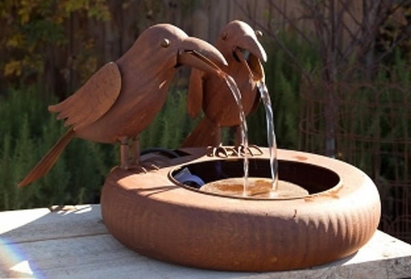 Park Hill® Folk Art Crow Fountain
