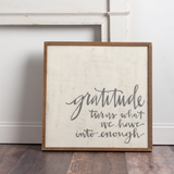 "Primitives by Kathy® Inset Box Sign ""Gratitude"""