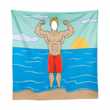 Big Mouth® In the Buff Shower Curtain